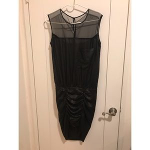 BCBG Max Azria Silky Liquid Leather Style Dress